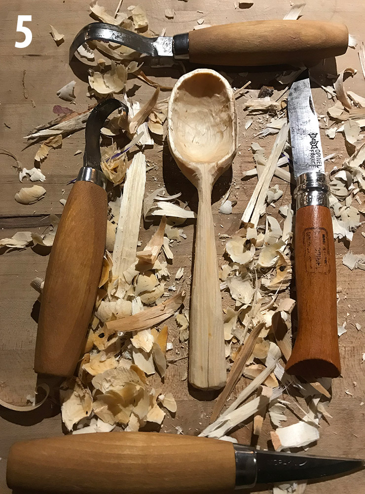 Tricks of the Trade: Greenwood Carving - The Five-Step