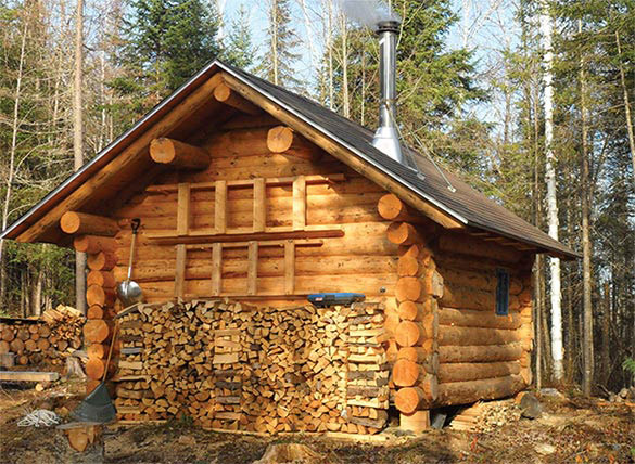 A cabin in the woods winter 2013 articles features for Building a small cabin in the woods