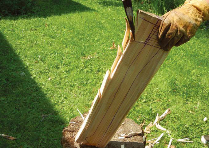 carved axe handle. photo: diane morgan carved axe handle