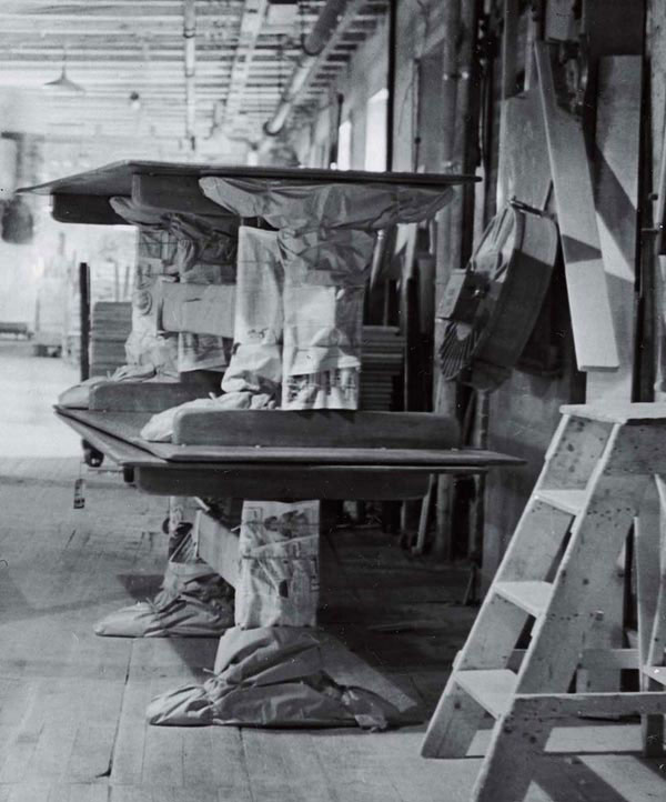 Cushman Furniture Factory, North Bennington, Vermont, Circa 1950. Photo:  Reuben Greene
