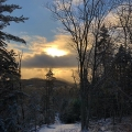 Dalton, NH. Sunset over new Lover's Leap Trail on Dalton Mountain. Credit: AM Dannis
