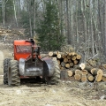 "Tiadaghton State Forest, PA. ""The skidder has a day off on a timber sale in Pennsylvania."" Credit: Charlie Schwarz"