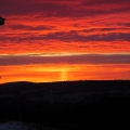 "Snydertown, PA. ""Sunrise on January 8 included a sun pillar ... gorgeous."" Credit: Bonnie Honaberger"