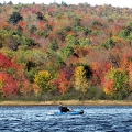 "Hermon, ME. ""The forest surrounding Big Indian Lake is ablaze in color for this kayaker."" Credit: Ed Baum"