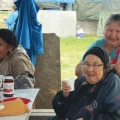 Elders tent, Waswanipi summer gathering. Photo: Naomi Heindel