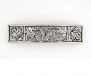 Pewter Maple Leaf Barrette