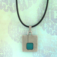 Stability: Pewter and Enamel Corded Necklace